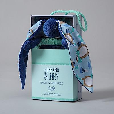 La Millou Velvet頂級棉柔系列-長耳安撫巾兔禮盒(舒柔靛)