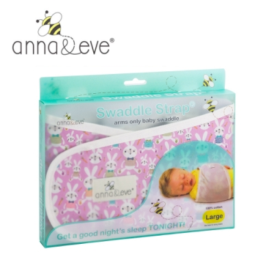 美國 Anna&Eve 嬰兒舒眠包巾 / 防驚跳早產兒肚兜-紫色兔子農場