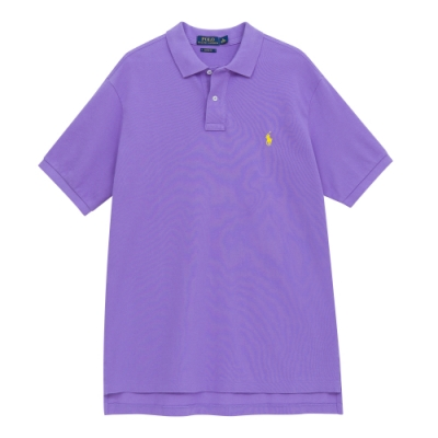 Polo Ralph Lauren 男版刺繡小馬短袖POLO衫(紫色)