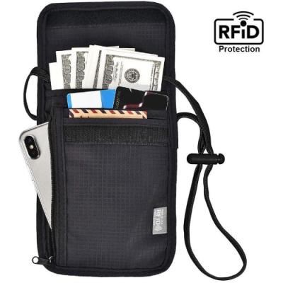 iware RFID掛頸防搶包 防掃描卡片側錄 隨身隱形防盜包 護照包證件夾 旅行旅遊收納包