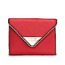 Rebecca Minkoff 三角金屬LOGO壓釦式鑰匙圈零錢包-紅色