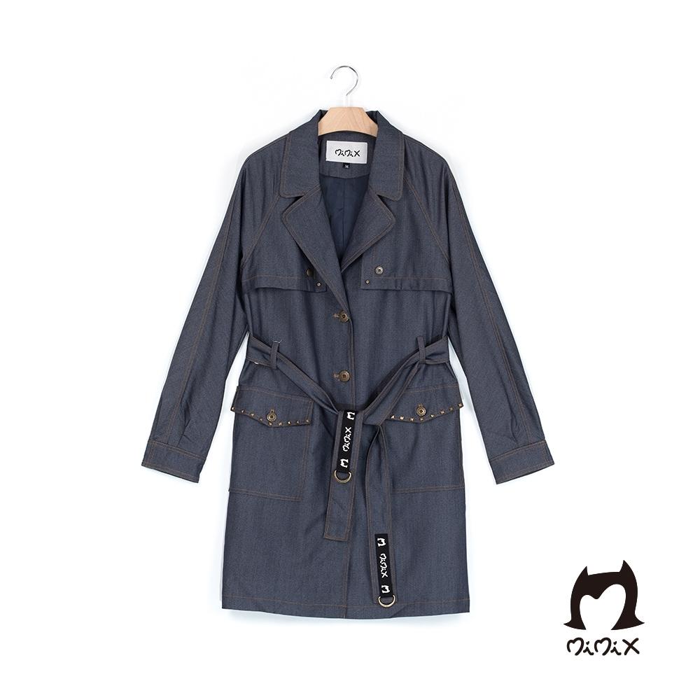 MiMix 極致率性牛仔長版造型風衣外套(1色)