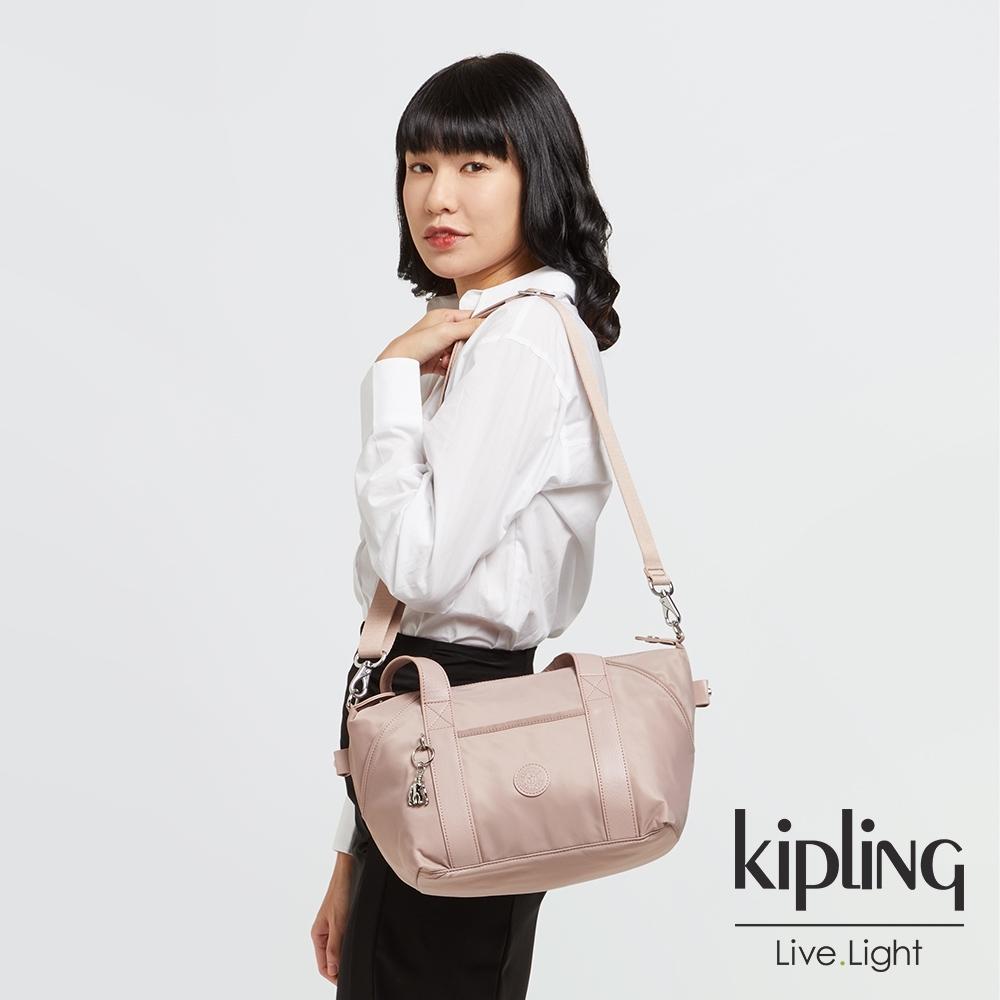 Kipling 溫柔沉穩粉手提側背包-ART MINI