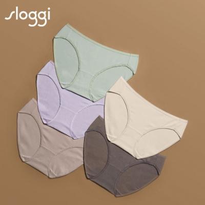 sloggi Everyday有機過生活系列中腰三角褲5件包明媚春色 C76-923 I6