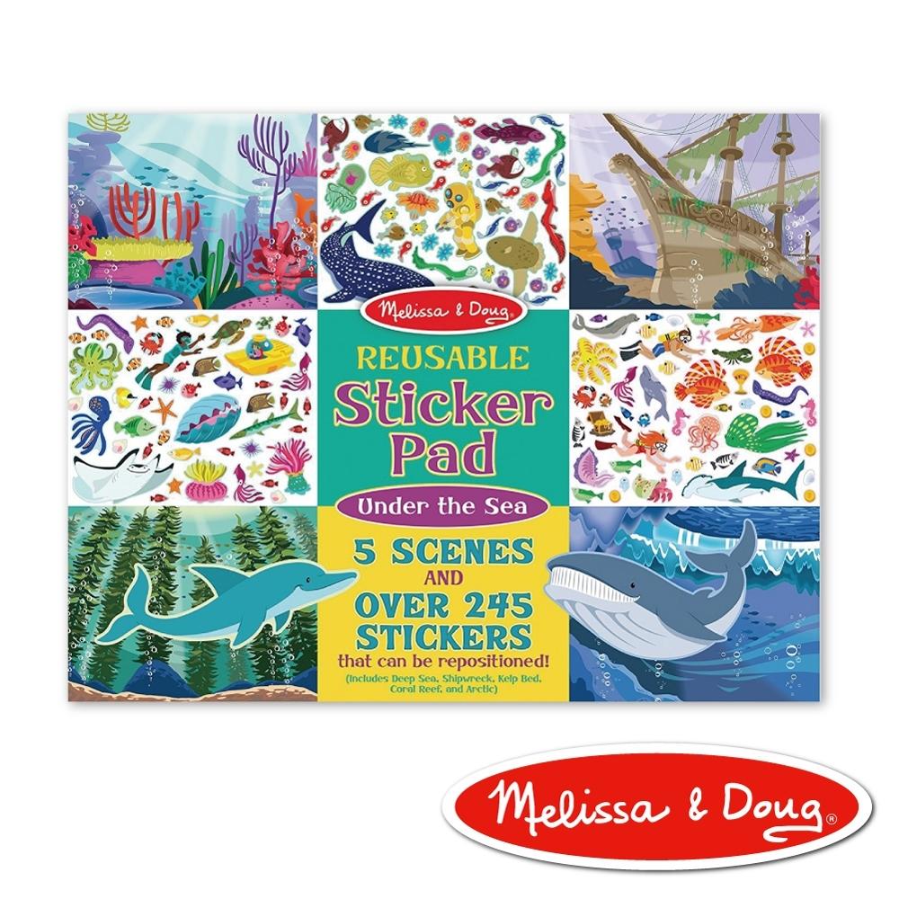【美國瑪莉莎 Melissa & Doug】 貼紙簿 - 可重複貼紙 - 海底世界