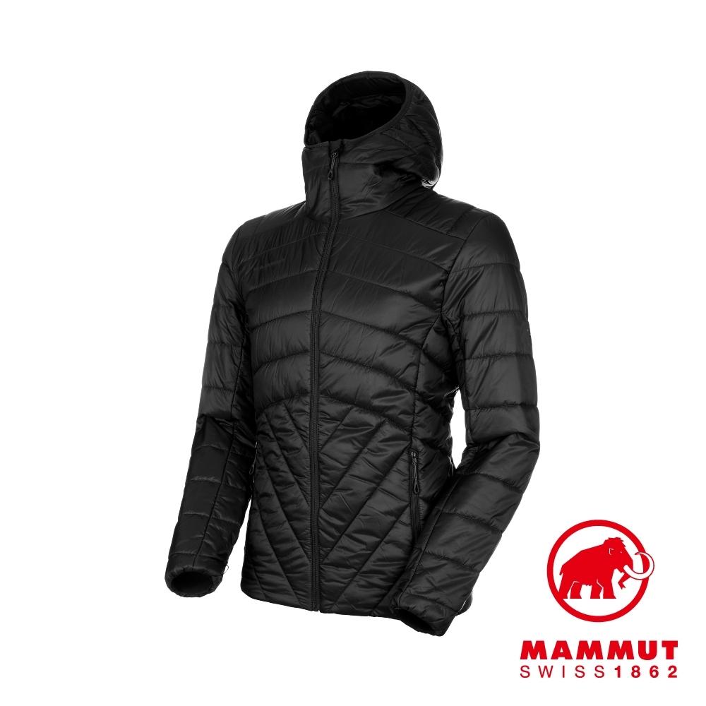 【Mammut 長毛象】Rime IN 連帽化纖外套 男款 黑色 #1013-01210