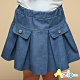 Azio Kids 女童 短裙 造型假口袋百褶牛仔短裙(藍) product thumbnail 1