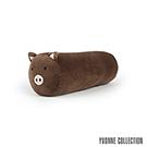 Yvonne Collection 豬豬圓筒長抱枕-深咖啡