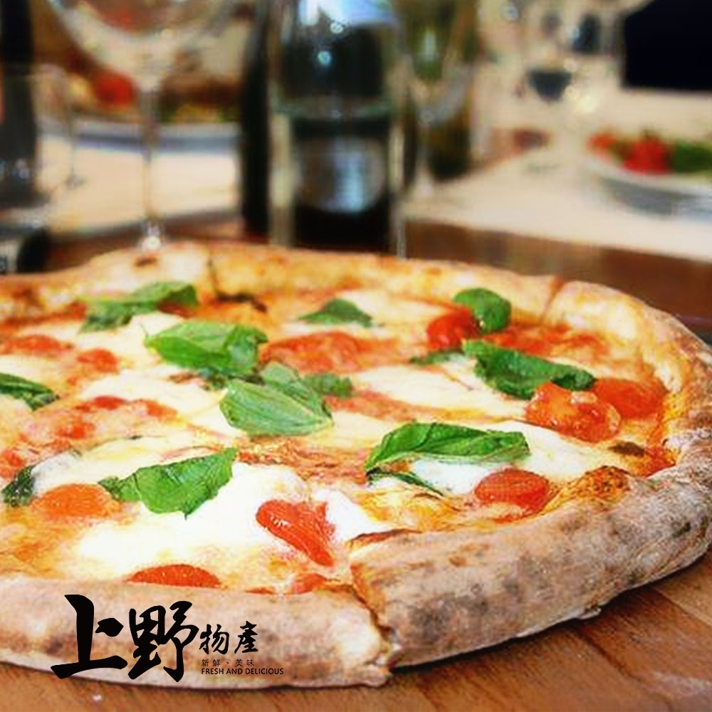 【上野物產】象徵義大利國旗的 女王瑪格麗特乳酪pizza(200g土10%/片) x6片