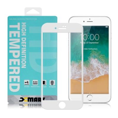 Xmart for iPhone 6S /iPhone 6 用 高透光2.5D滿版玻璃貼- 白色 2張