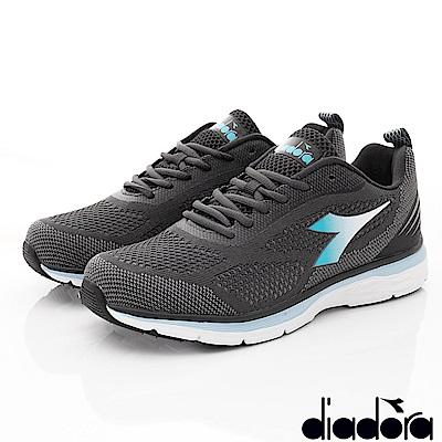 DIADORA-飛織輕彈跑鞋款 SE018灰(女段)