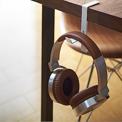 【YAMAZAKI】BEAUTES耳機包包掛架-白★耳機架/包包架/耳機收納