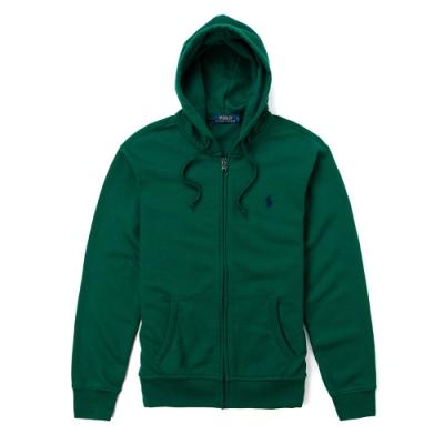 Polo Ralph Lauren 年度經典刺繡小馬素面外套-墨綠色