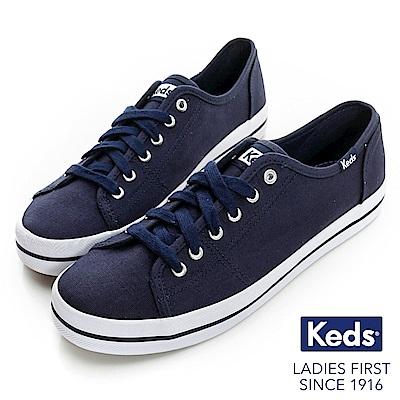 Keds 中性基本綁帶休閒鞋-海軍藍