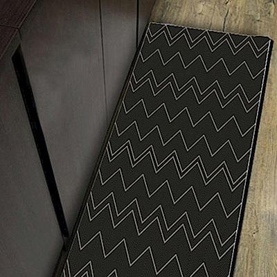 范登伯格 - 夏露 類亞麻進口地毯 -山菱 (黑 - 60 x 110cm)