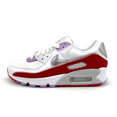 NIKE AIR MAX 90 女休閒鞋-白紅-CU3004176