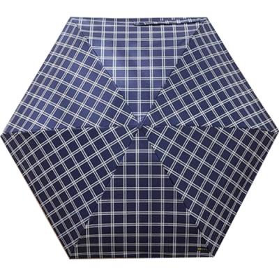 城市雨CTRain=口袋五折晴雨傘 (藍格紋)