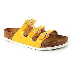 勃肯BIRKENSTOCK 1008852。FLORIDA三條復古拖鞋(亮黃)