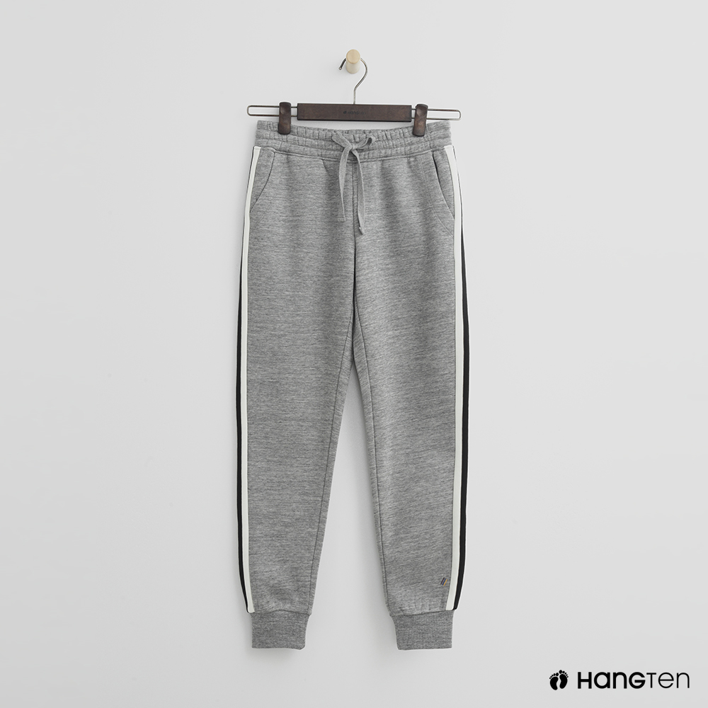 Hang Ten - 女裝 -側邊撞色鬆緊束口褲 - 灰