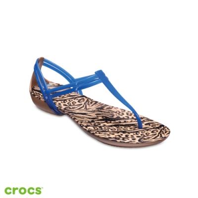 Crocs卡駱馳 (女鞋) 伊莎貝拉T型涼鞋 204859-4HS W6藍色系