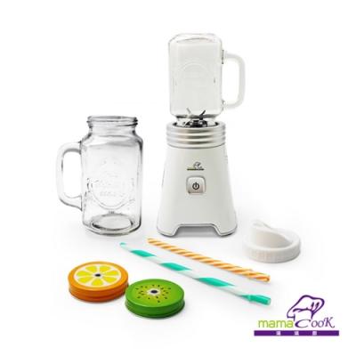 Mama Cook 小資蔬活梅森果汁機雙杯組 隨行杯果菜機