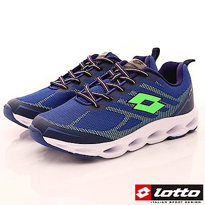 Lotto樂得-減震彈力運動鞋-SI636藍(男段)