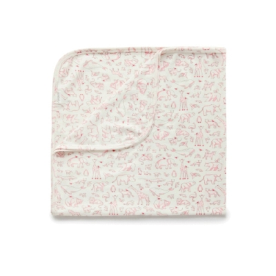澳洲Purebaby有機棉嬰兒棉毯-新生兒包巾