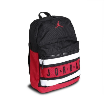 Nike 後背包 Jordan Taped 男女款 喬丹 手提 雙肩背 旅行 黑 紅 9A0290KR5