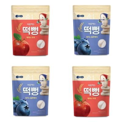韓國 【BEBECOOK】 嬰幼兒初食綿綿米餅4入組(蘋果、藍莓)