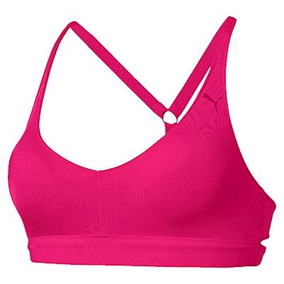 PUMA-女性訓練系列SPOTLITE低衝擊運動內衣-洋桃紅-歐規
