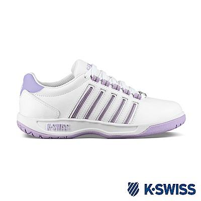 K-SWISS Court Pacoima休閒運動鞋-女-白/粉紫