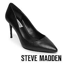 STEVE MADDEN-LILLIE 極美型素面尖頭高跟鞋-黑色