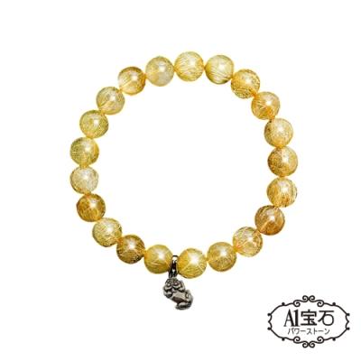A1寶石 貔貅鈦晶手鍊手環-招財開運旺貴人運