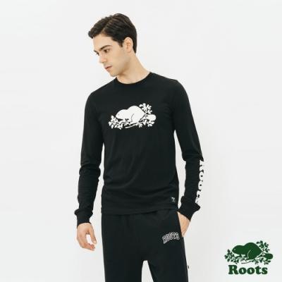 男裝Roots- 庫柏長袖T恤-黑