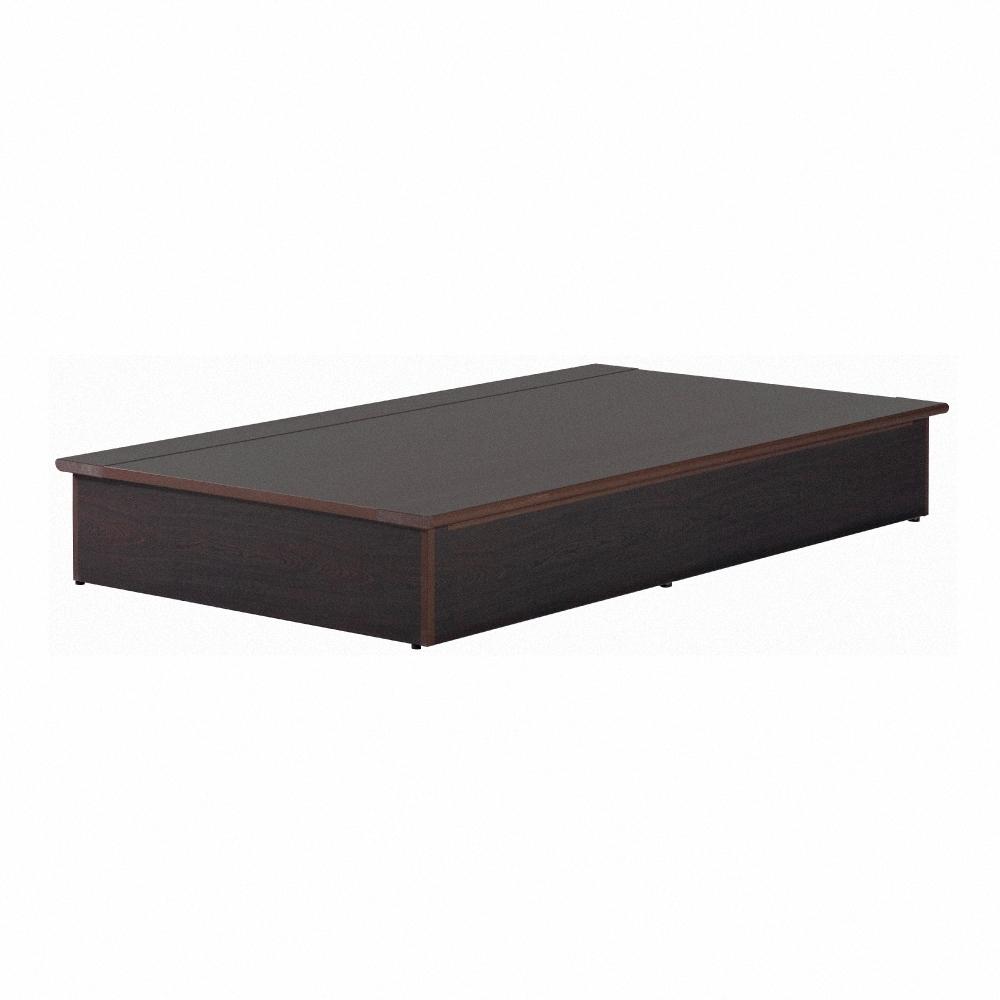 AS-防潮塑鋼3.5尺胡桃床底-105x188x28cm
