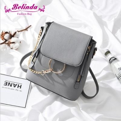 【Belinda】韓風簡約三用後背包(灰色)