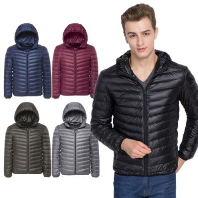 【Incare】冬季百搭-連帽輕量羽絨90+保暖外套(5色任選)