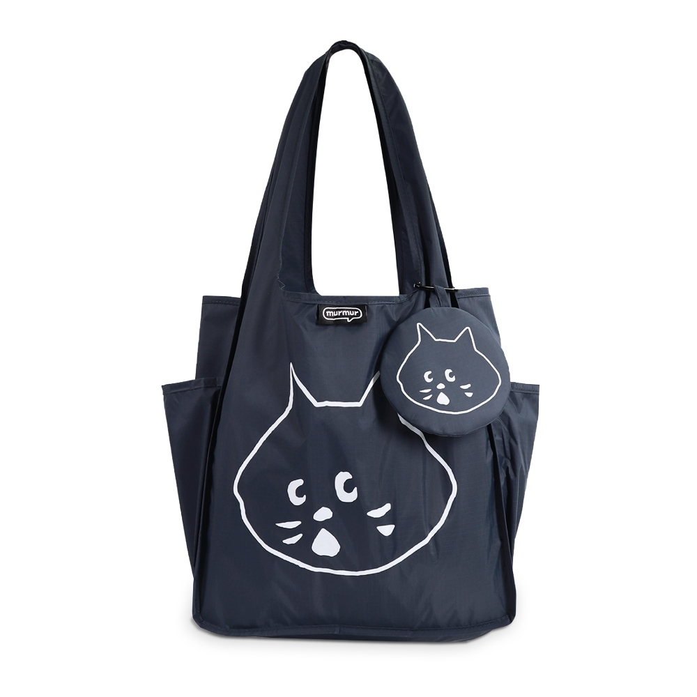 murmur A4購物袋│NYA- 灰藍