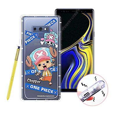 航海王 Samsung Galaxy Note 9 透明軟式空壓殼(封鎖喬巴)手...