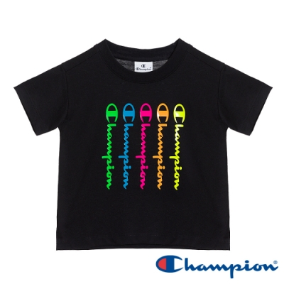 Champion EU童彩色草寫Logo短Tee 黑色