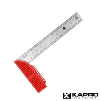 以色列KAPRO開普路 木工修繕不鏽鋼/直角/畫線/弧度尺 30CM