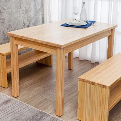 Boden-森林家具 4尺全實木餐桌/工作桌-DIY-120x75x77cm