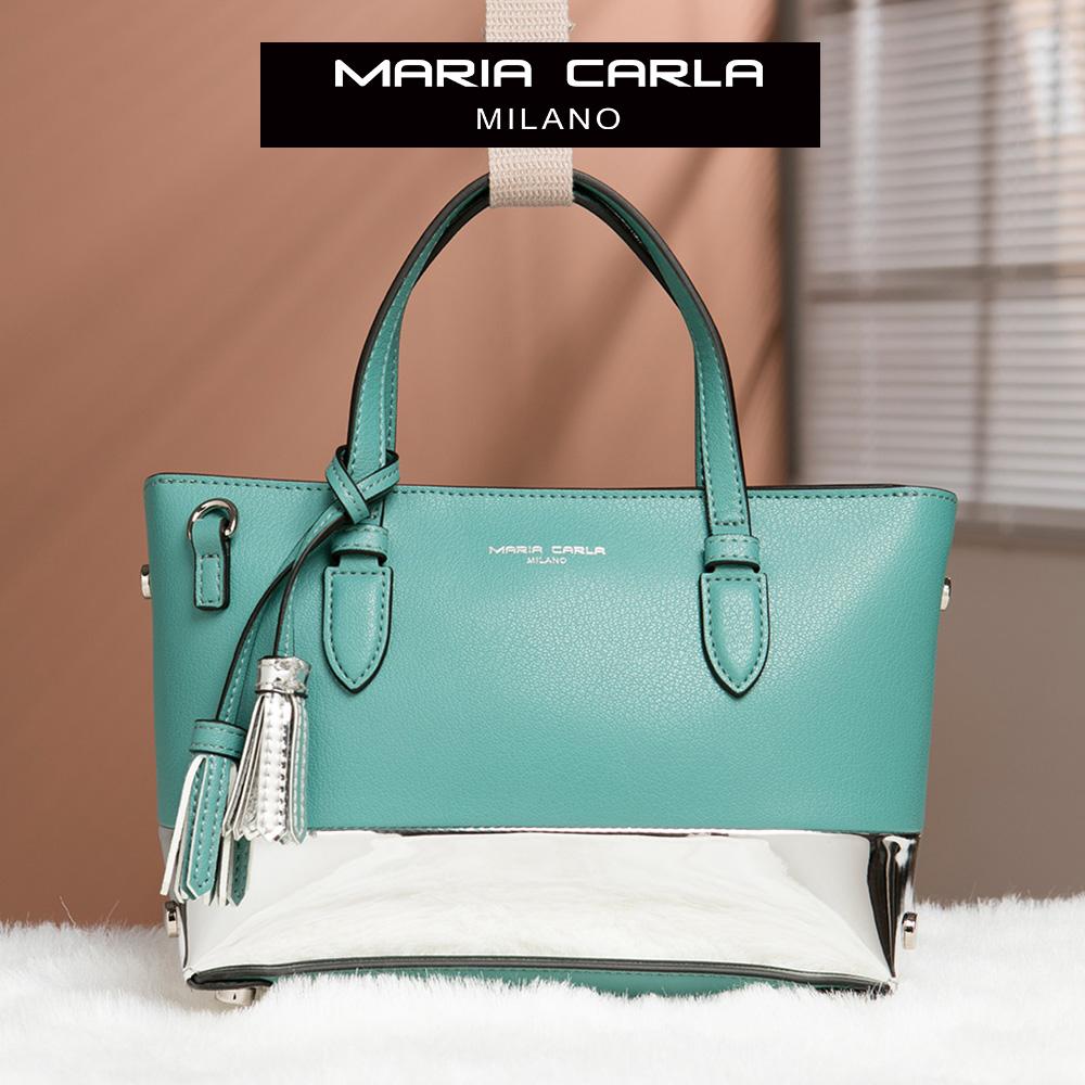Maria Carla 手提側背包-牛皮小托特_知性OL、清新朝氣系列(特殊色-青瓷綠)