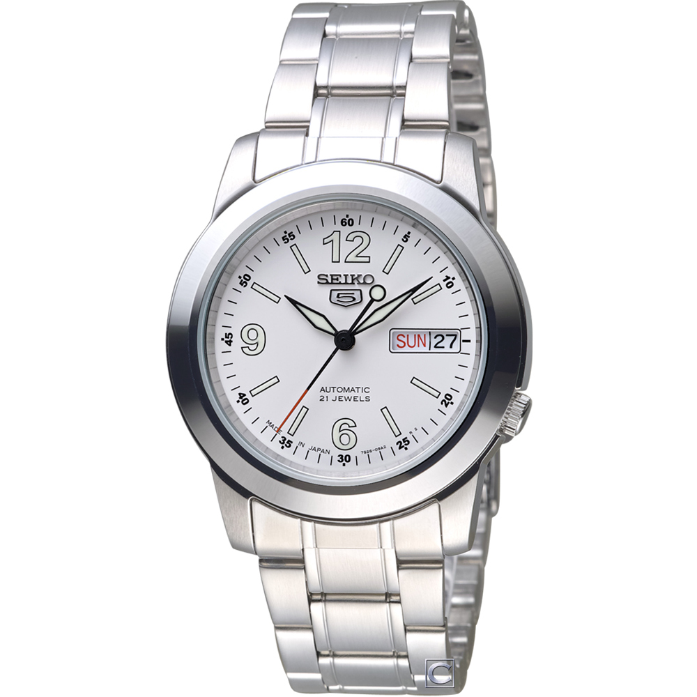 SEIKO 精工 5號21石盾牌機械腕錶(SNKE57J1)39mm