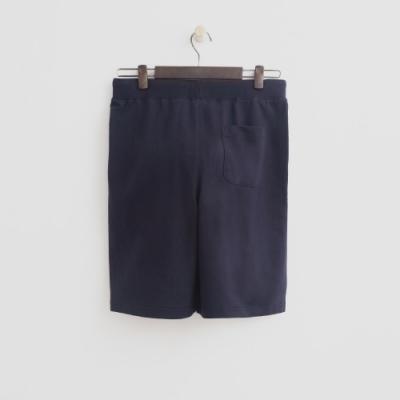 Hang Ten - 男裝 - 鬆緊綁帶設計休閒短褲-深藍