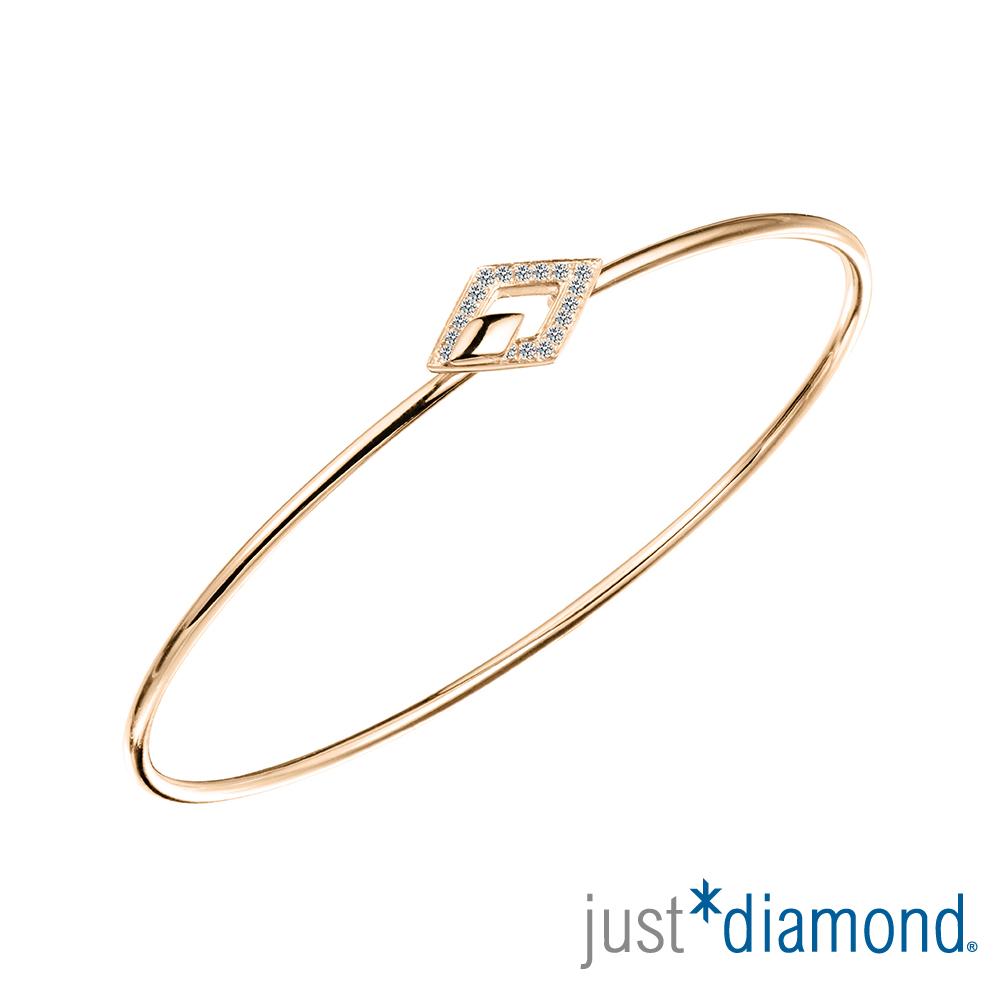 Just Diamond 18K玫瑰金鑽石手環-Athena kiss 雅典娜之吻