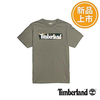 Timberland 男款軍綠色Kennebec Brand短袖T恤