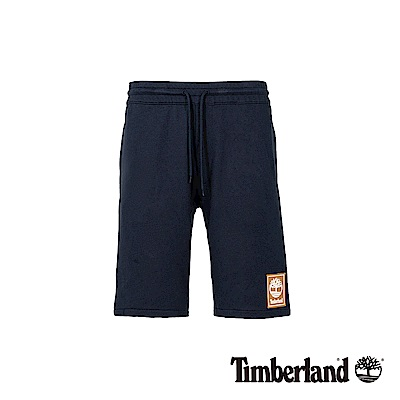 Timberland 男款深藍色抽繩鬆緊腰休閒短褲|A1YFK