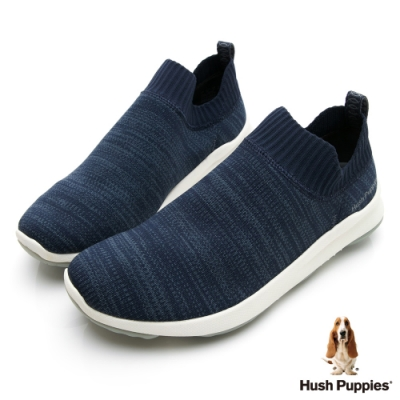 Hush Puppies Bounce Max 高效彈力休閒襪套男便鞋-深藍