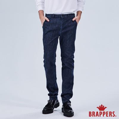 BRAPPERS 男款 中腰彈性直筒褲-藍